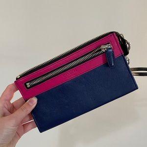 Coach colourblock wristlet wallet